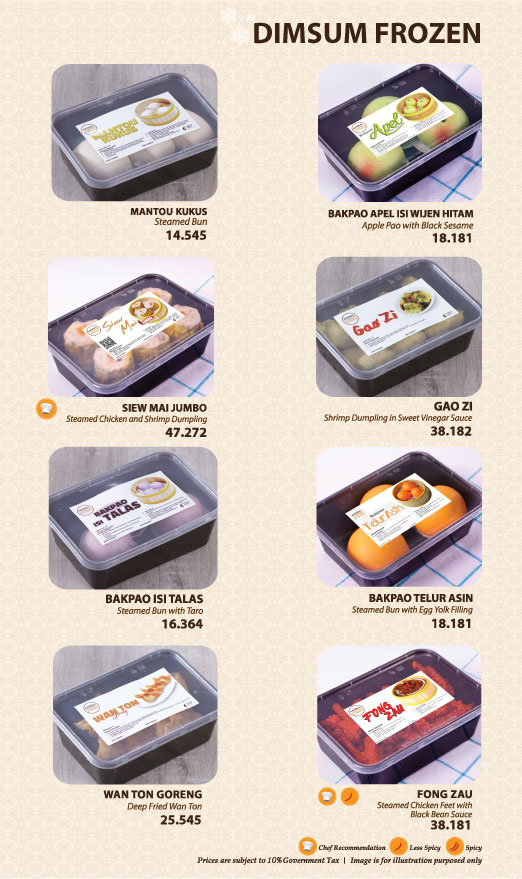 Imperial Kitchen Menu - Frozen Food